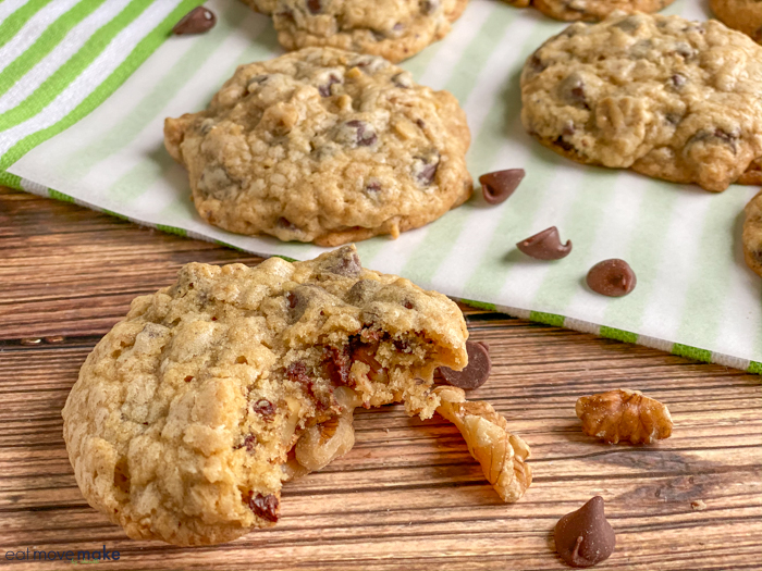 doubletree chocolate chip cookies with bite out of one