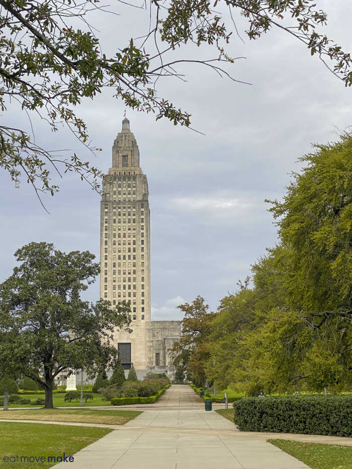 Louisiana new state capitol - daylight