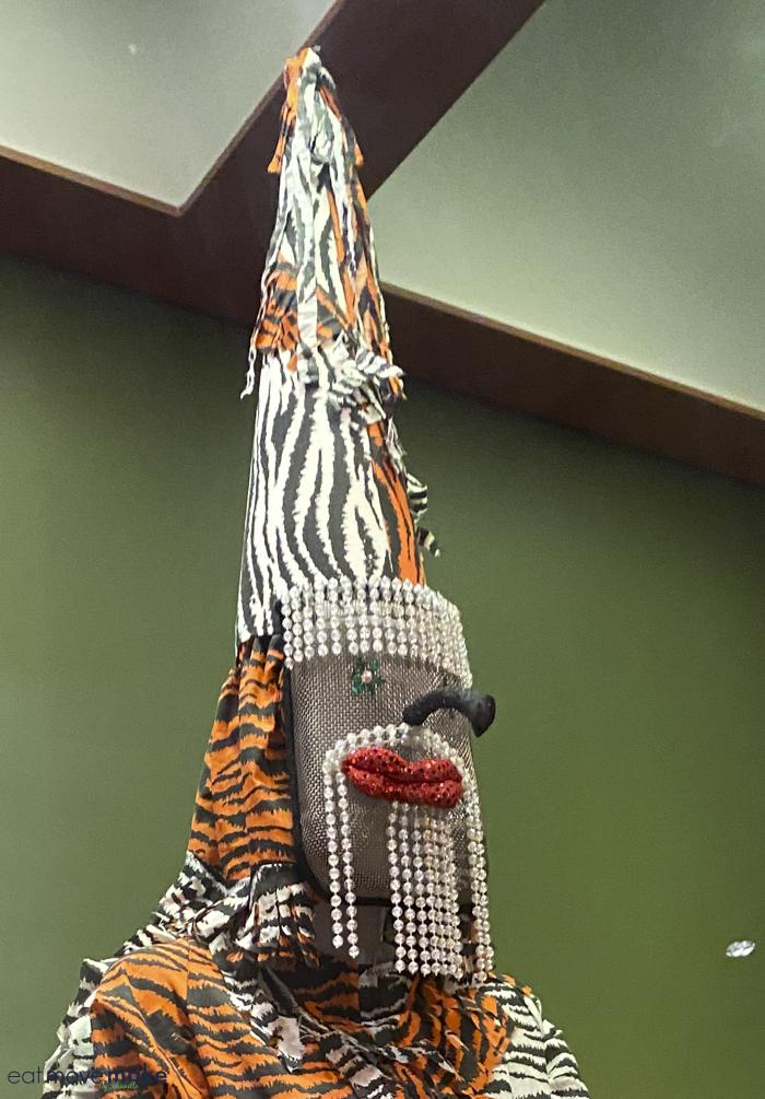 Mardi Gras mask at Capitol Park Museum