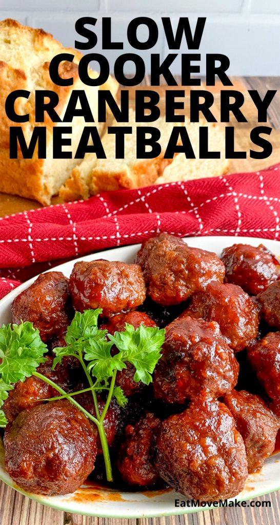slow cooker cranberry meatballs