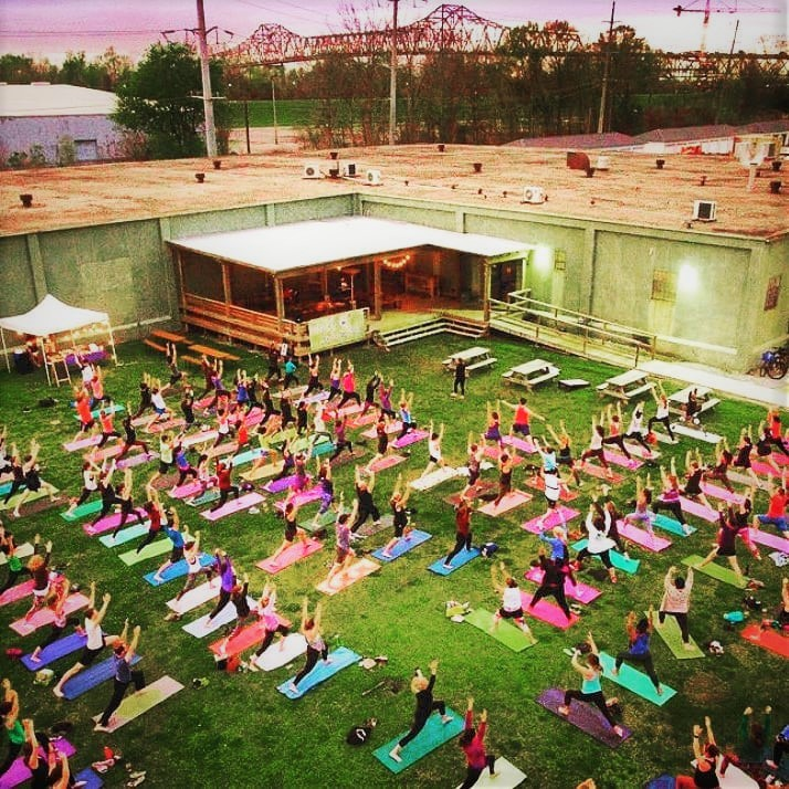 Yoga on the lawn Tin Roof Brewery - Baton Rouge LA