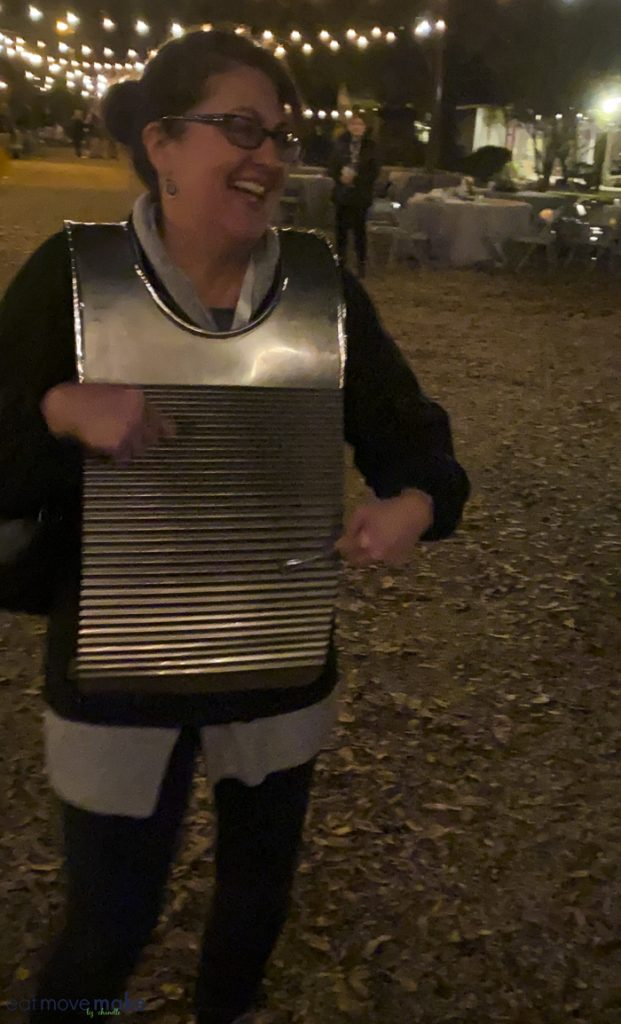playing washboard at LSU Rural Life Museum