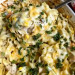 spoonful of chicken noodle casserole