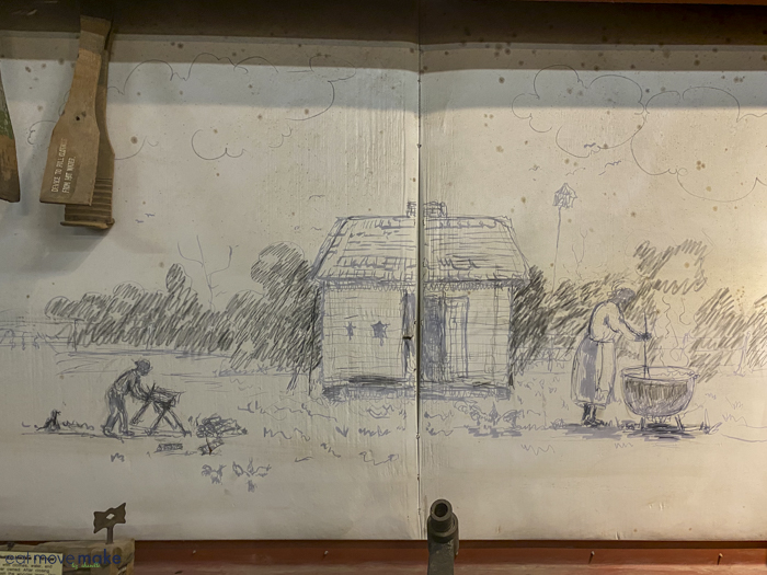 wall sketch at LSU Rural Life Museum