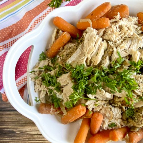 Mexican pork roast in dish