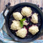 blackberry dumplings in skillet