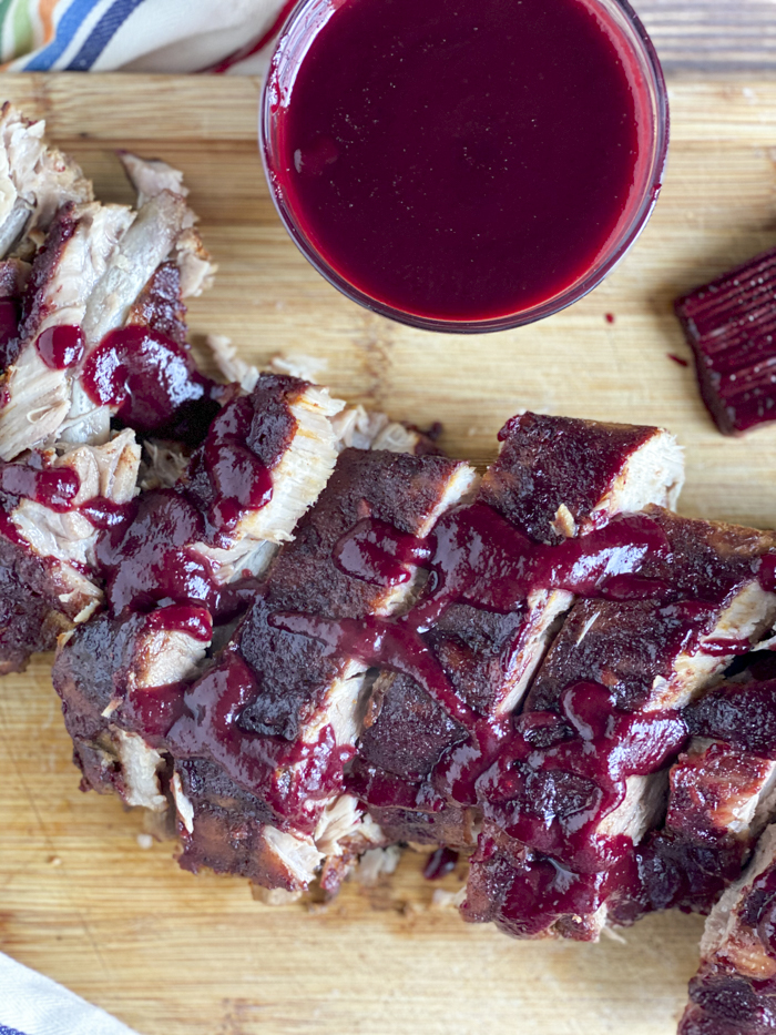 blackberry sauce for pork on oven baked ribs