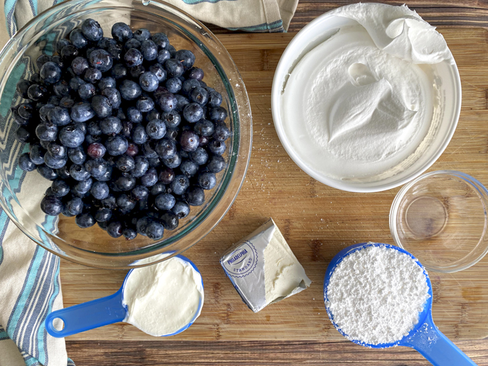 blueberry cheesecake salad ingredients