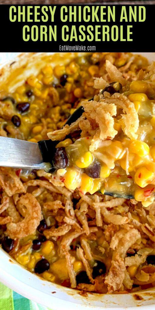 cheesy chicken and corn casserole