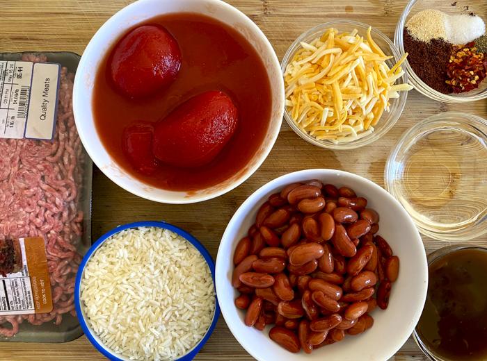 ingredients for southwest skillet