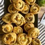 tray of sausage pinwheels