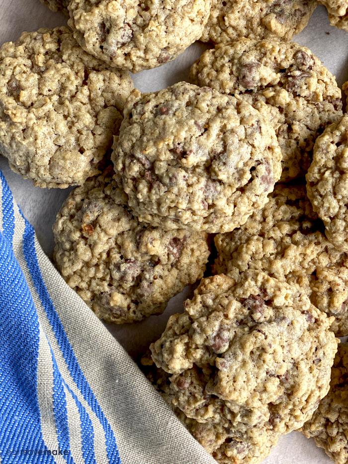 Buncha Crunch oatmeal cookies on table