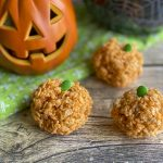 halloween rice krispies treats on table