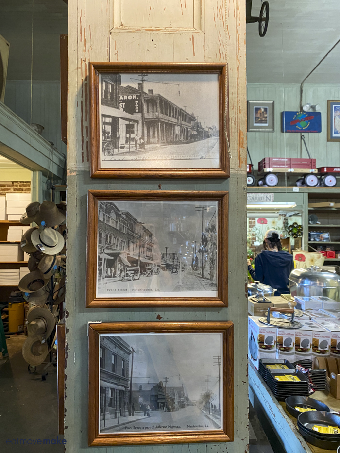 vintage photos on display