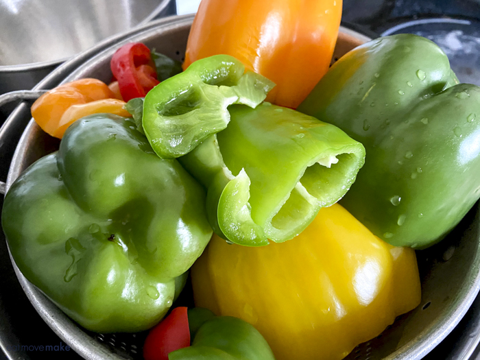 boiled bell peppers