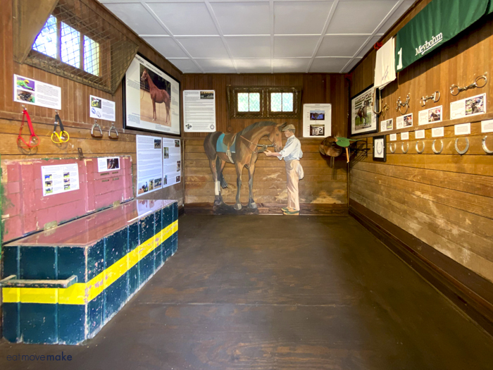 equipment display at Thoroughbred Museum
