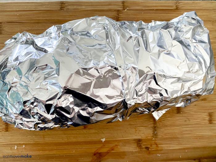 hoagie sandwich wrapped in foil