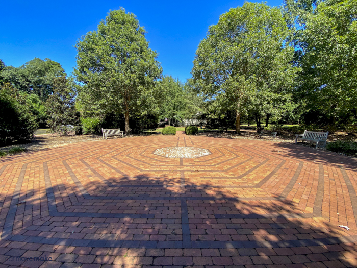 labyrinth at Hopeland's Gardens