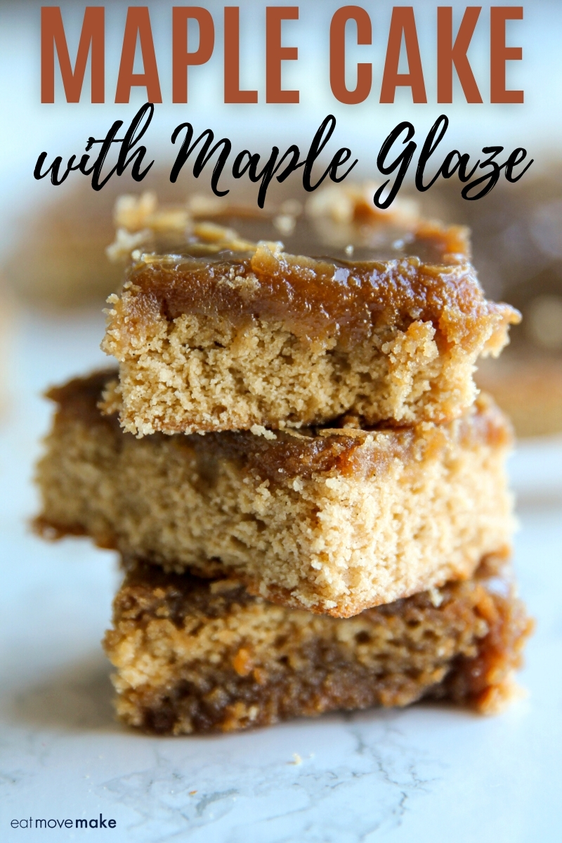 maple cake with maple glaze