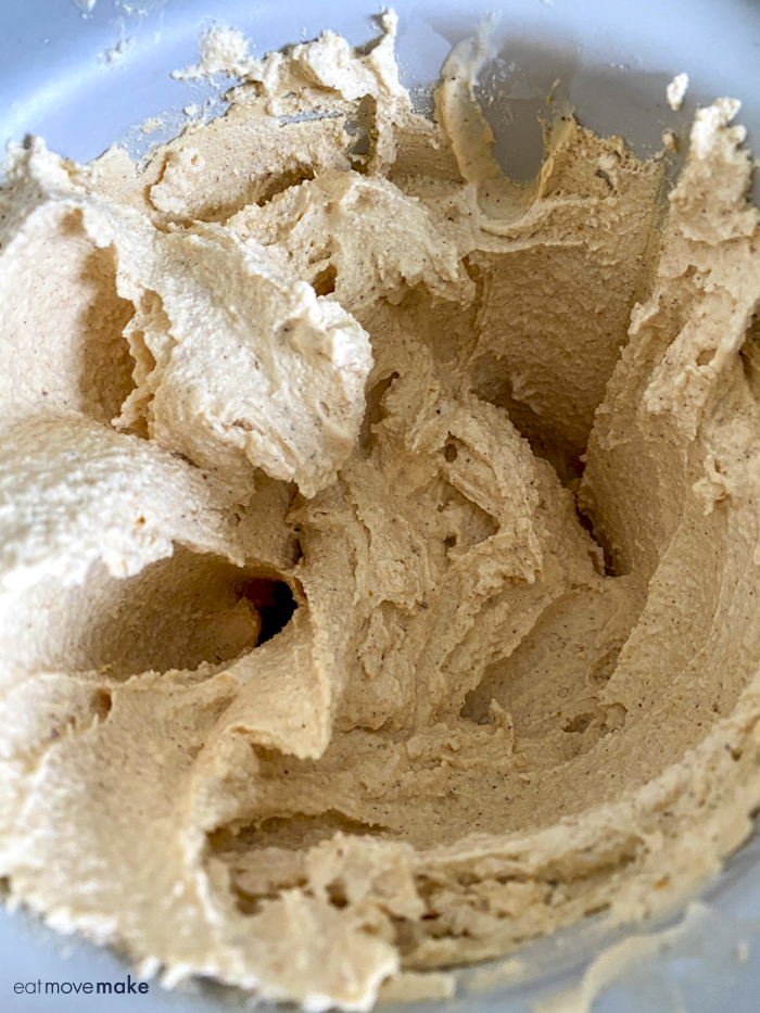 pumpkin ice cream after churning