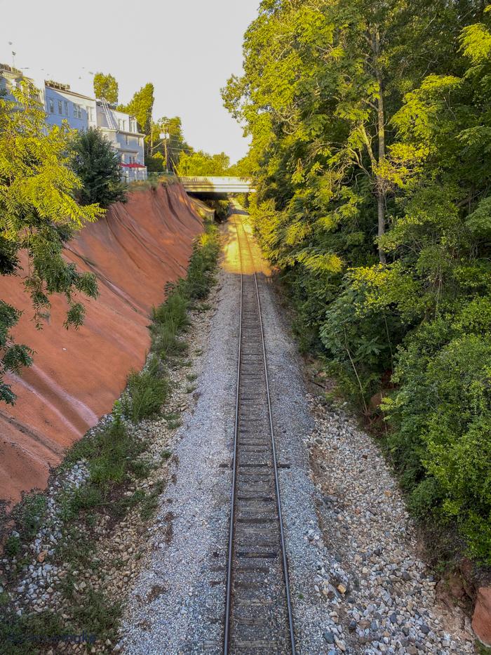 railroad cut behind The Willcox