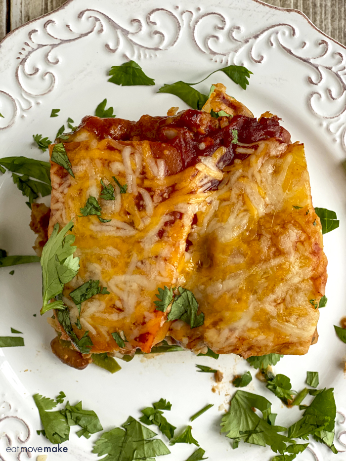 stuffed pepper casserole on white plate