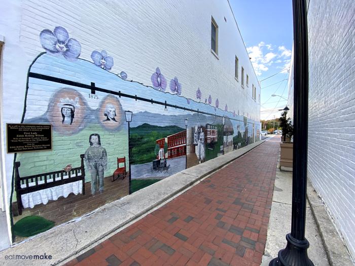 Edith Bolling Wilson mural - Wytheville VA