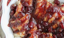 Pork Tenderloin with Cranberry Sauce and Onion Curry 3