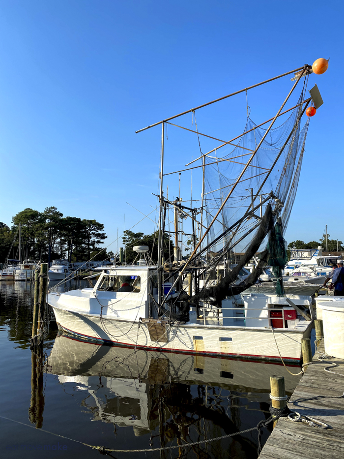 Reel Livin Fishing Charters shrimping excursion in Onslow County NC
