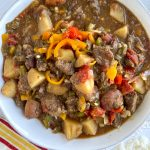 bowl of cajun beef stew