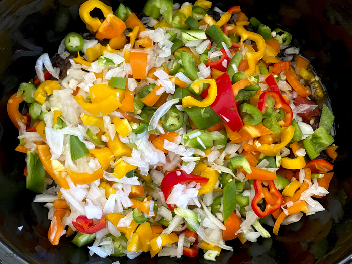 fresh veggies in crockpot