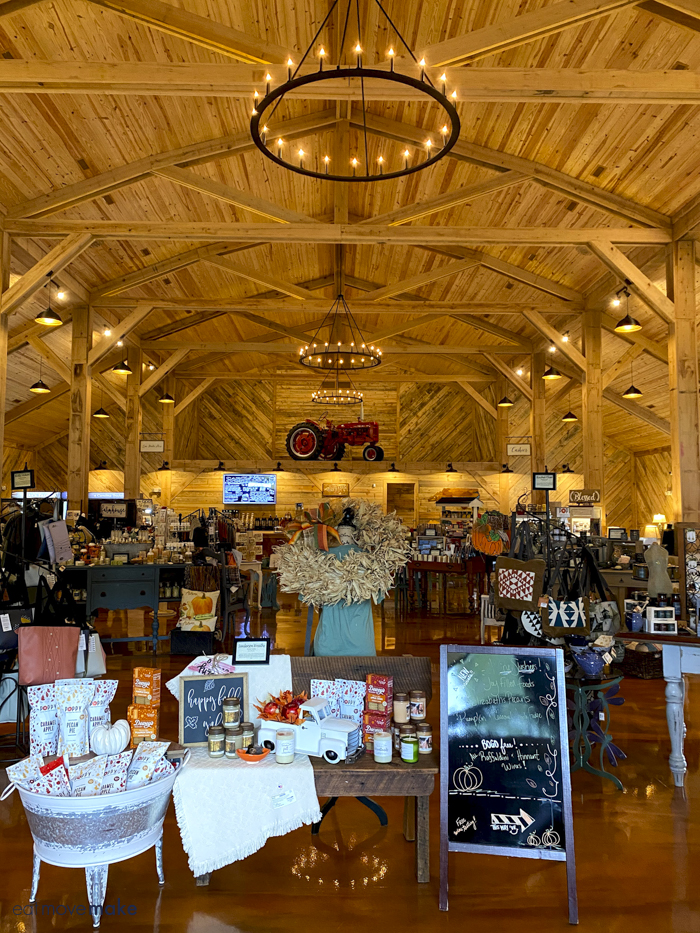 inside NC products barn