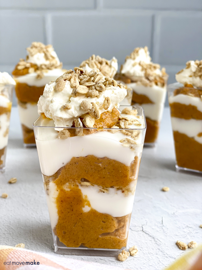 mini pumpkin parfaits