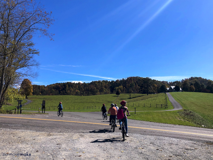 people biking on VA creeper trail