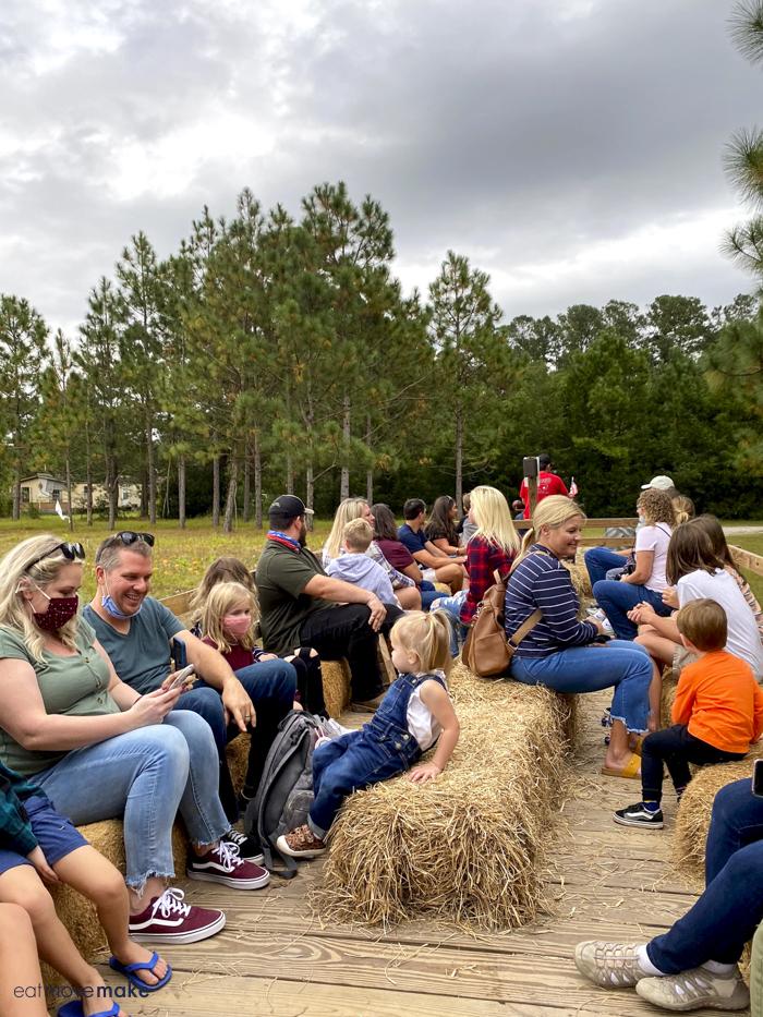 people taking hayride