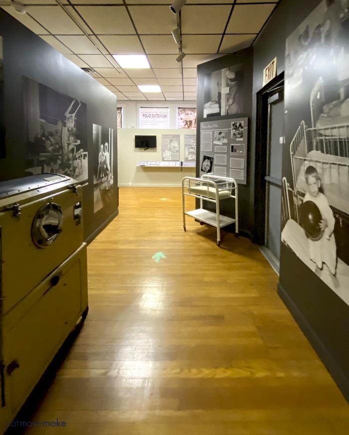 polio exhibit Thomas J. Boyd Museum