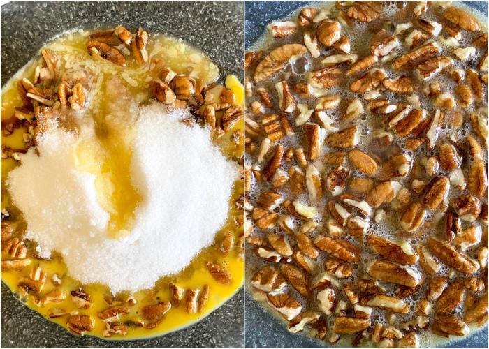 pecan pie filling mixture