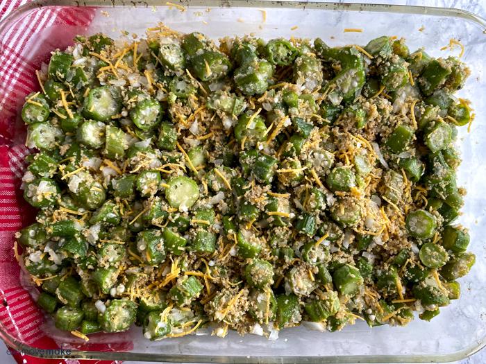 baked okra casserole ingredients