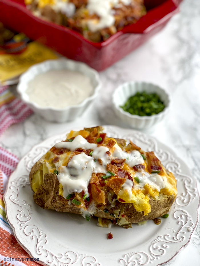 baked potato on plate