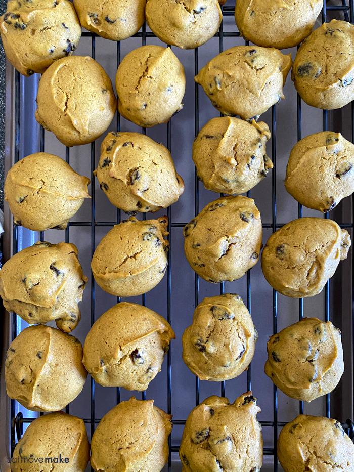 fresh baked raisin pumpkin cookies