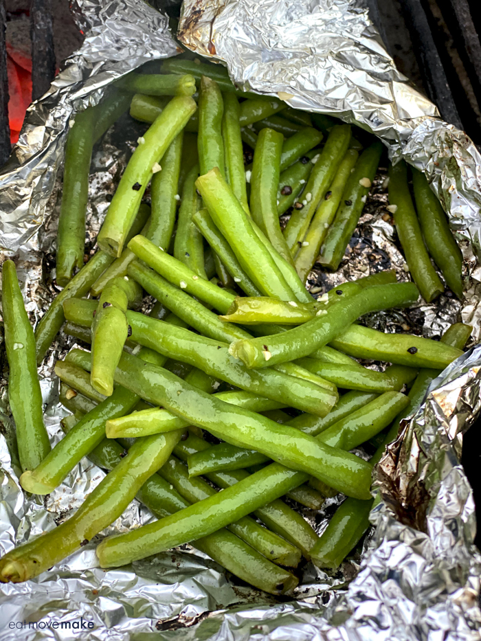 green beans in foil pack on grill
