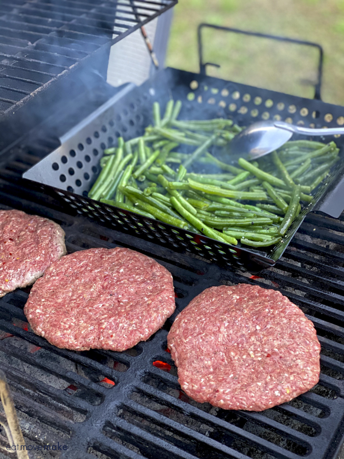 green beans on grill