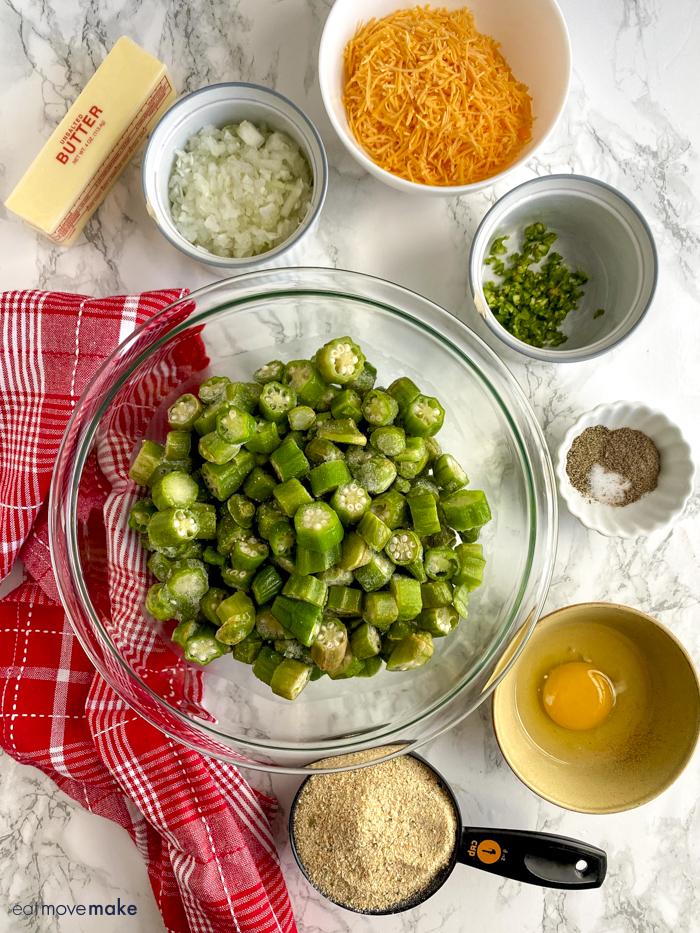 ingredients for okra casserole