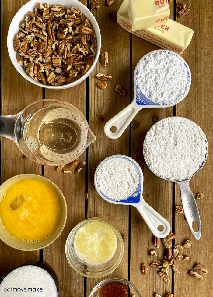 ingredients for pecan pie bars