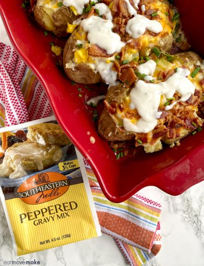 peppered gravy pouch by stuffed breakfast potatoes