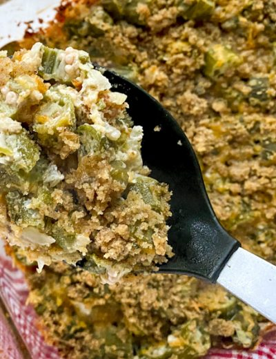 spoonful of veggie side dish