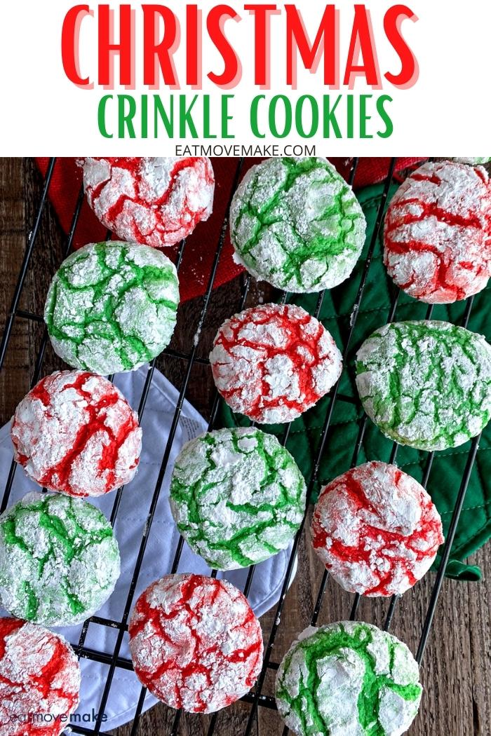 Christmas Crinkle Cookies recipe