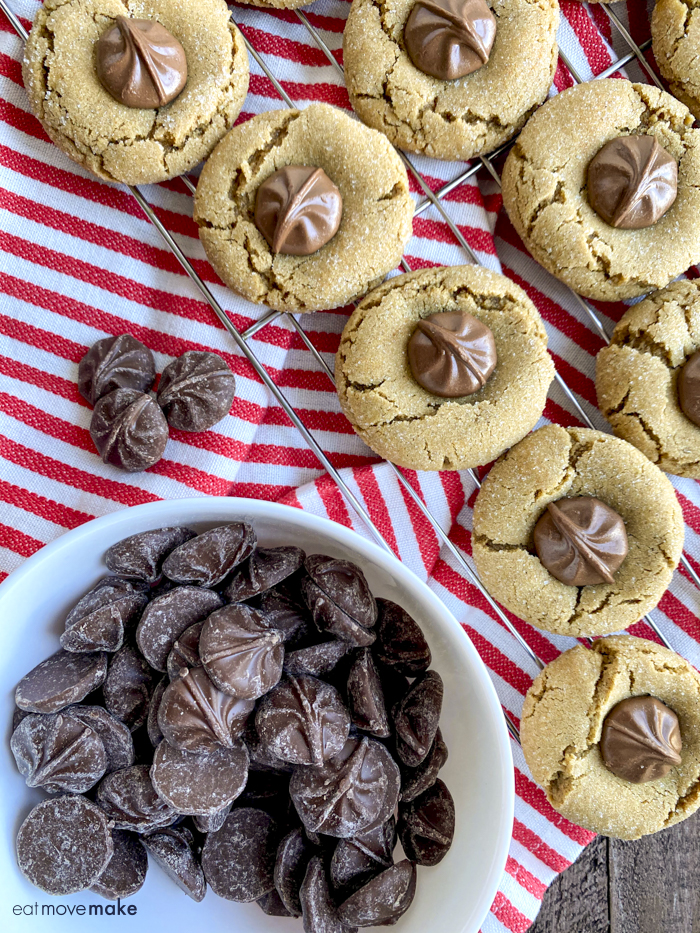 bowl of chocolate stars with cookies