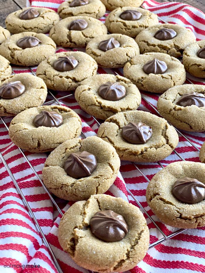 chocolate star cookies on cooling rack