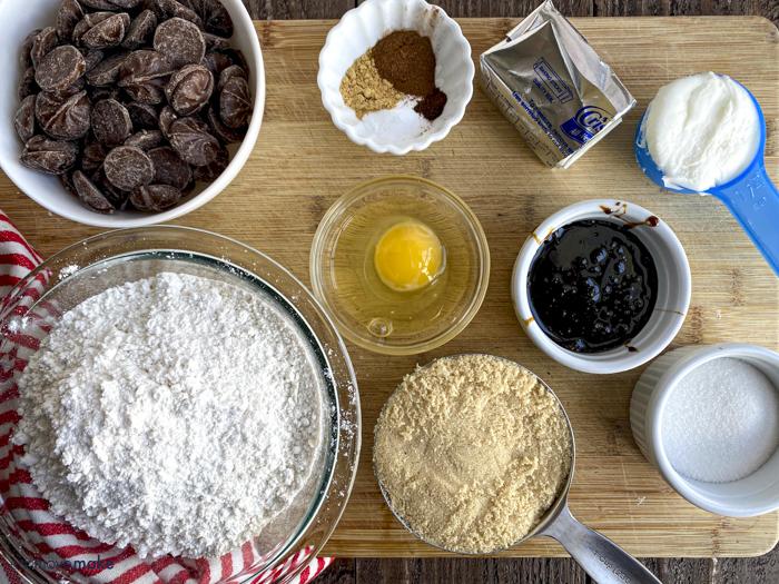 chocolate star gingersnaps ingredients